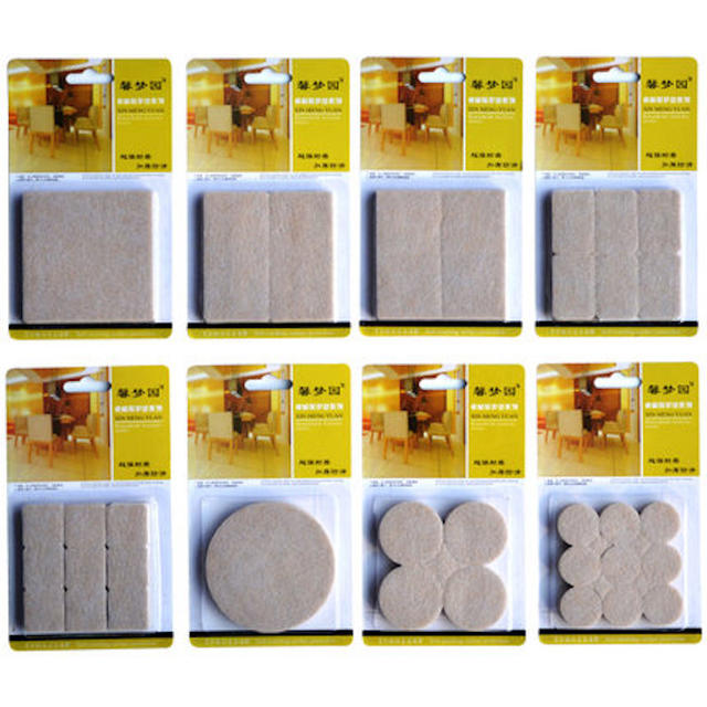 18 Pieces 27mm Square Felt Pads Table Chair Sofa Furniture Liance Protection Cushion Gasket Floor Abrasion Protector Guards