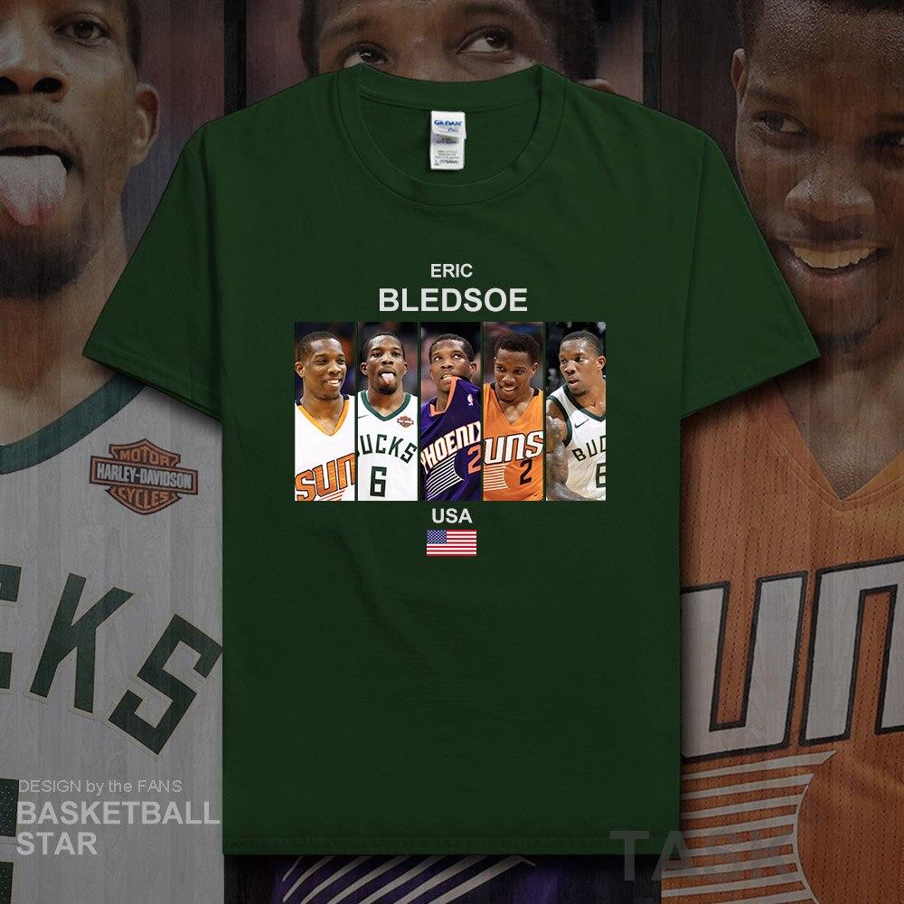 Eric Bledsoe t shirt men jerseys new brand fitness t-shirts fans streetwear tees USA basketballer star tshirts cotton clothes 20