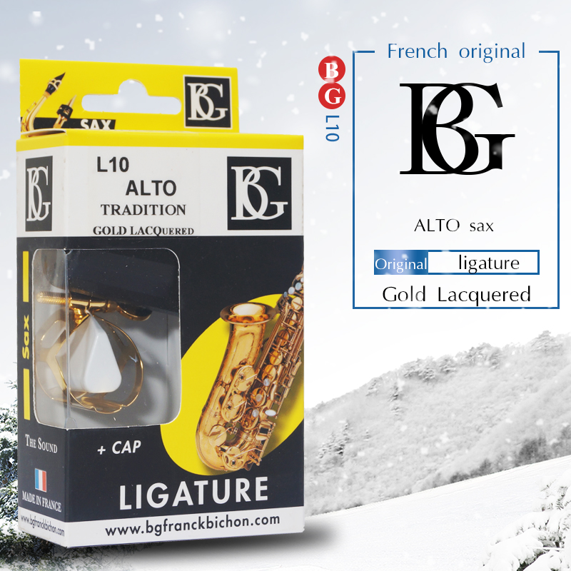 French Original BG gold plated ligature clarinet and alto sax can use clarinet alto sax ligature