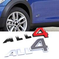 3D Letter All 4 Car Body Side Logo Sticker Emblem Badge Decals Auto Decoration Fit For