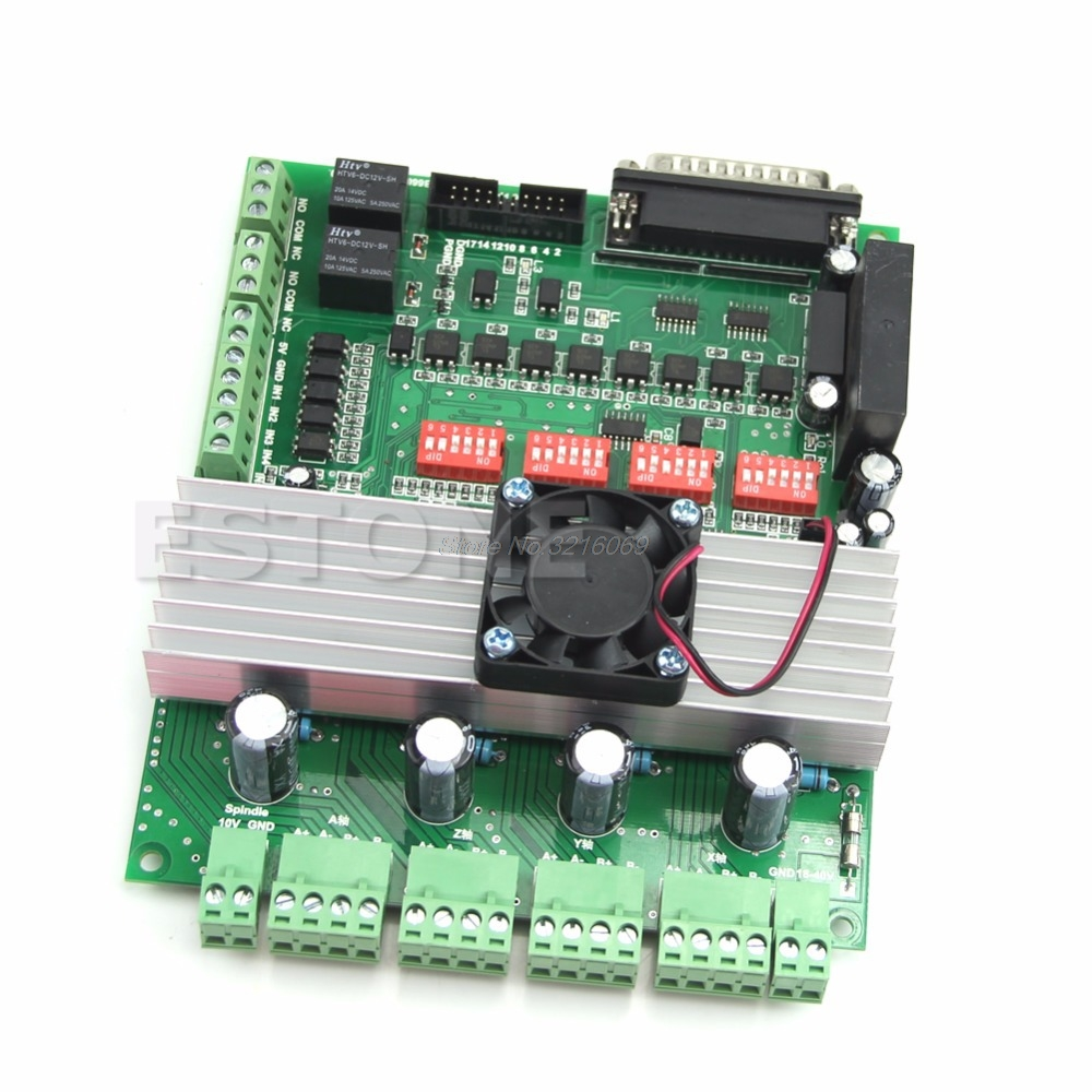 4 Axis New TB6600 CNC Controller Max Current 5A 36V Stepper Motor Driver Board free shipping high quality 4 axis tb6560 cnc stepper motor driver controller board 12 36v 1 5 3a mach3 cnc 12