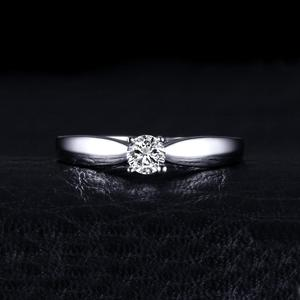 Image 2 - JewelryPalace CZ Solitaire Engagement Ring 925 Sterling Silver Rings for Women Anniversary Ring Wedding Rings Silver 925 Jewelry