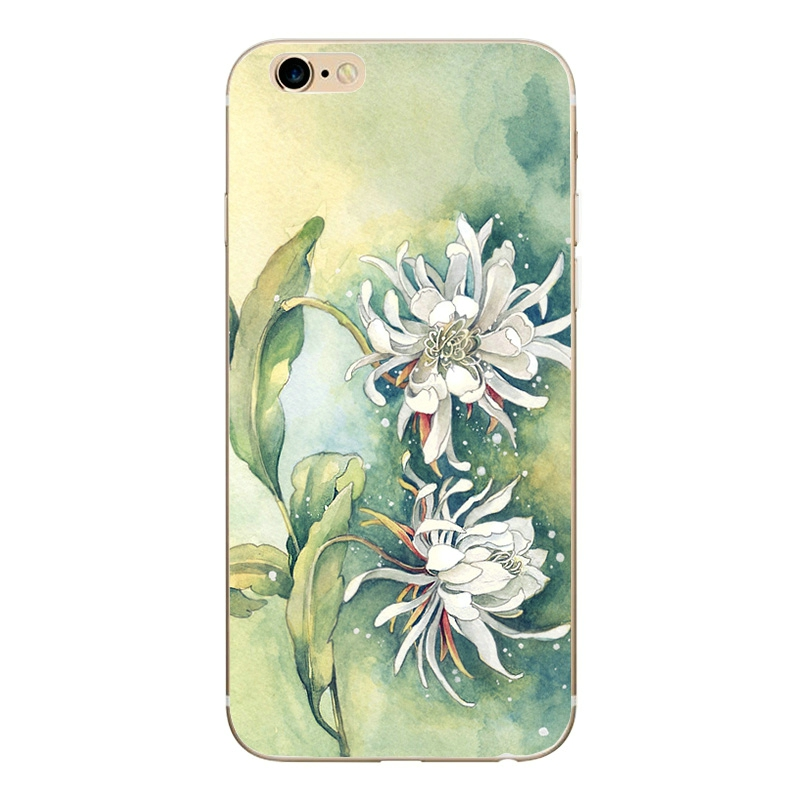 GLSHST Cartoon Pink roses Case For iPhone 6 6s Case For Coque iPhone 6S Cover Luxury Retro Phone Cases soft Cover & phone bags (5)