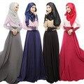 Новый Дизайн Женщин Абая Джилбаба Исламская Мусульманин Коктейль Женский С Длинным Рукавом Винтаж Макси Платье Исламская Одежда для Женщин WL3006
