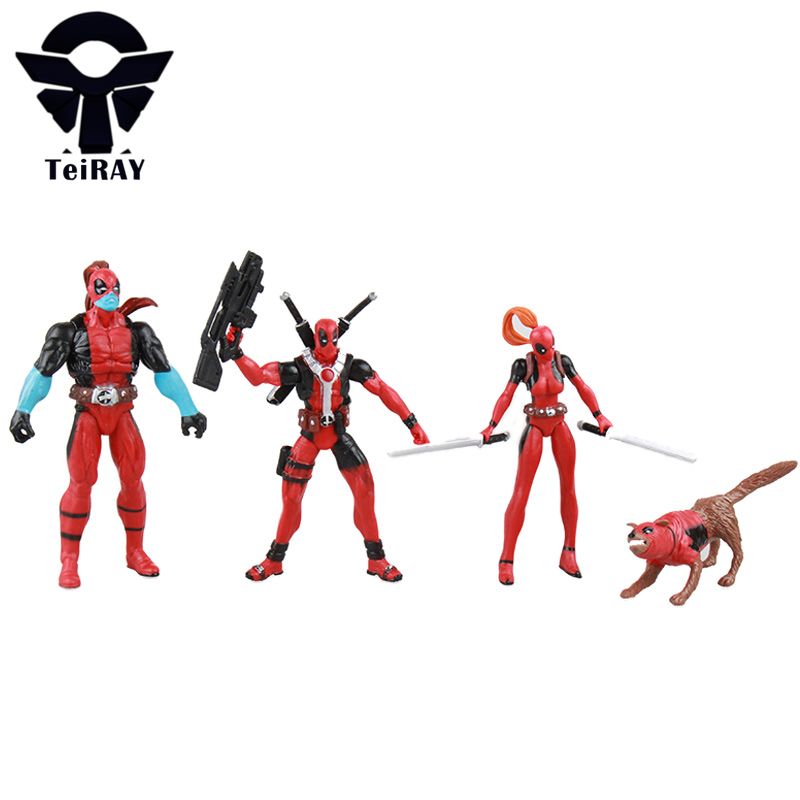 4pcs/set Marvel Movie toys Deadpool X-Men super hero mini pvc action figures collectible model toy for children kids gift 5-12cm