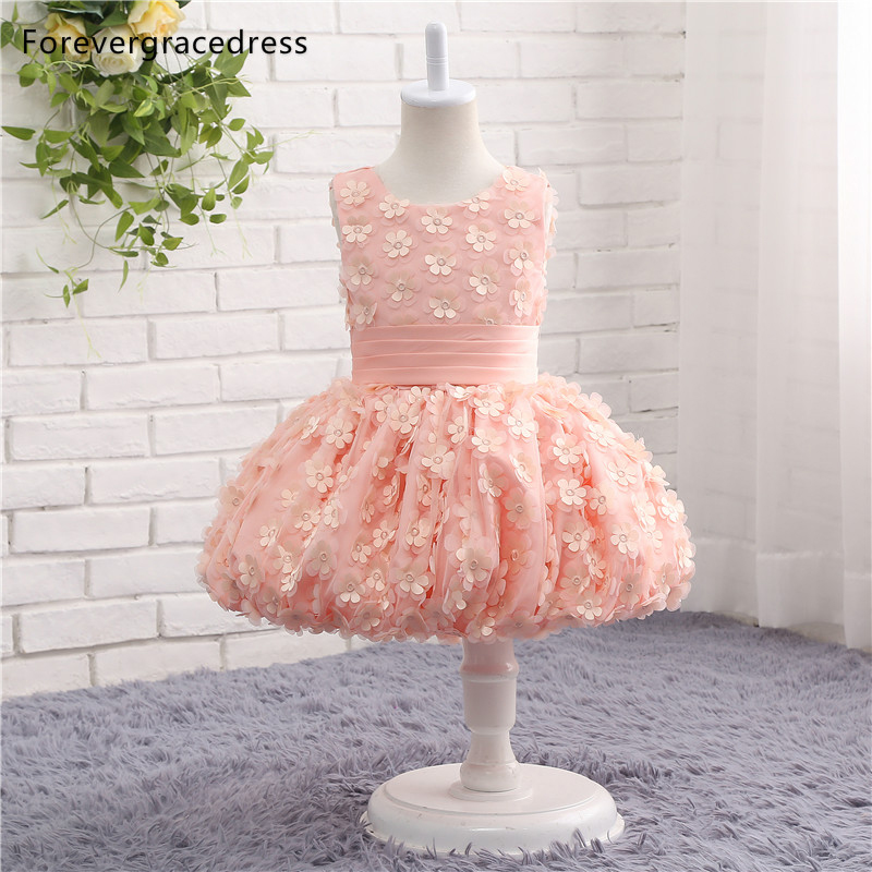 Forevergracedress Real Photos Lovely   Flower     Girl     Dress   High Quality Cute Handmade Tulle Kids Children Pageant Gown
