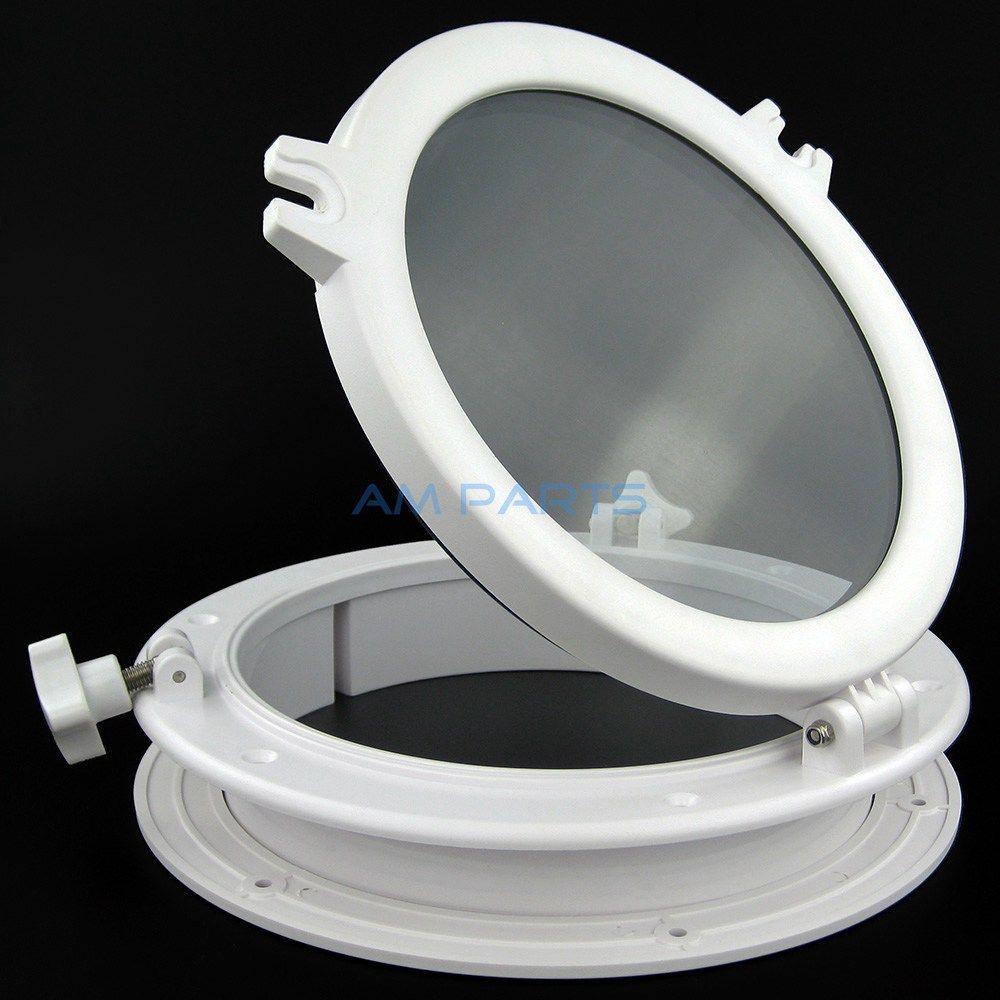 Boat Porthole Plastic Marine Round Hatches 10 Yacht RV Windows Portlight