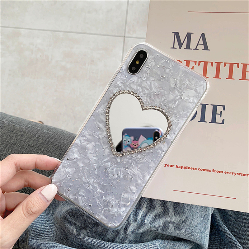 Phone Bags & Cases Eleteil Love Mirror Case For Iphone X Xr Xs Max Tinfoil Rhinestone For Iphone 6 6s 7 8 Plus Protective Phone Back Cover E40