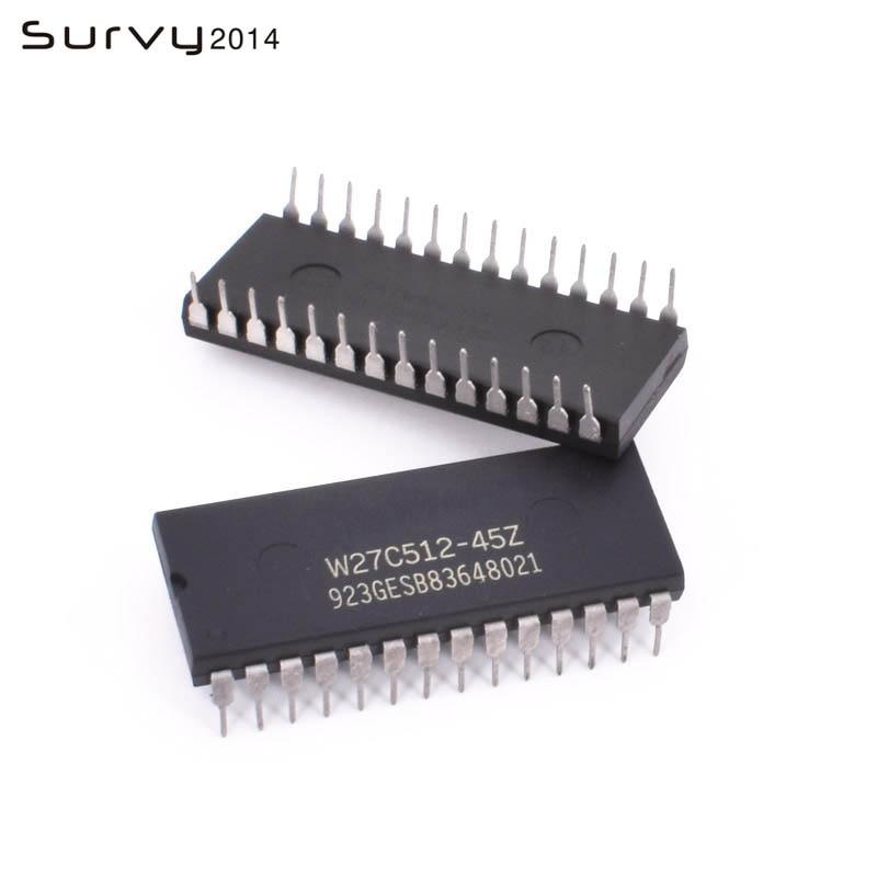 50 PCS W27C512-45Z W27C512 DIP IC EEPROM 512KBIT 45NS NEW