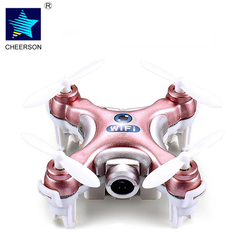Cheerson CX-10W RC Quadcopter 4CH 6-Axis Gyro Wifi FPV Drone RTF Mini Drone with Camera Pocket Drones Multicopter Boy Toys