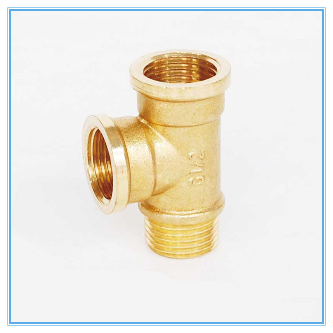 Brass Pipe Fitting Male X Female X Female 1/8