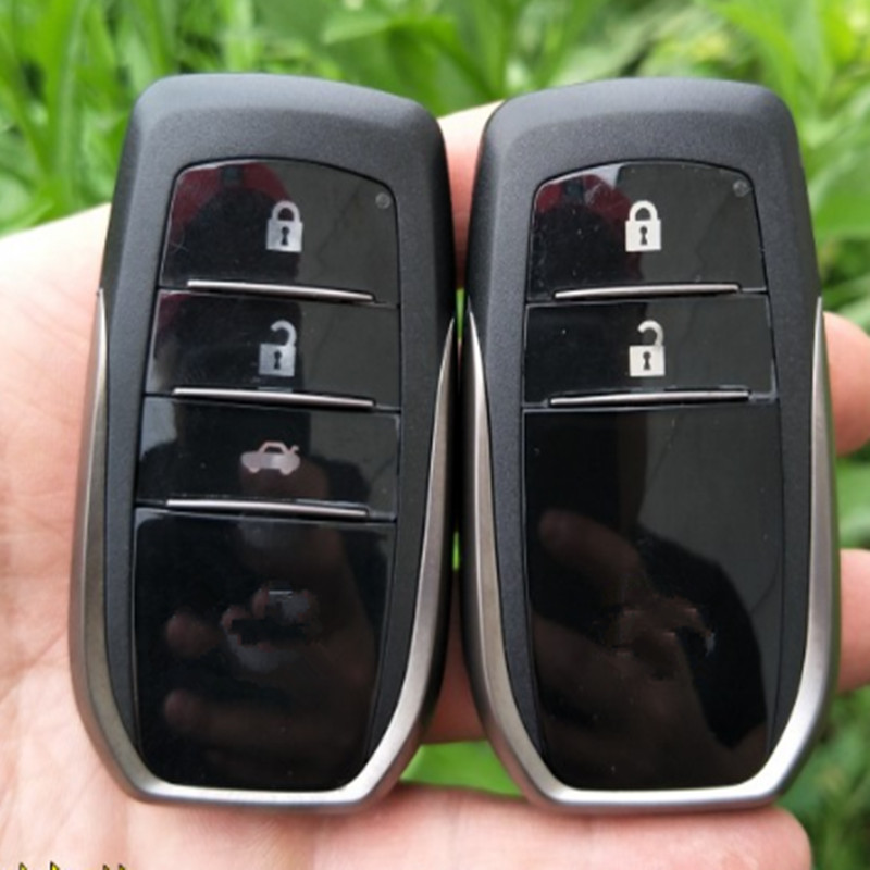 With LOGO 2/3 Button Smart Remote Key Shell For Toyota RAV4 Camry Reiz Highlander Smart Card Shell with uncut blade