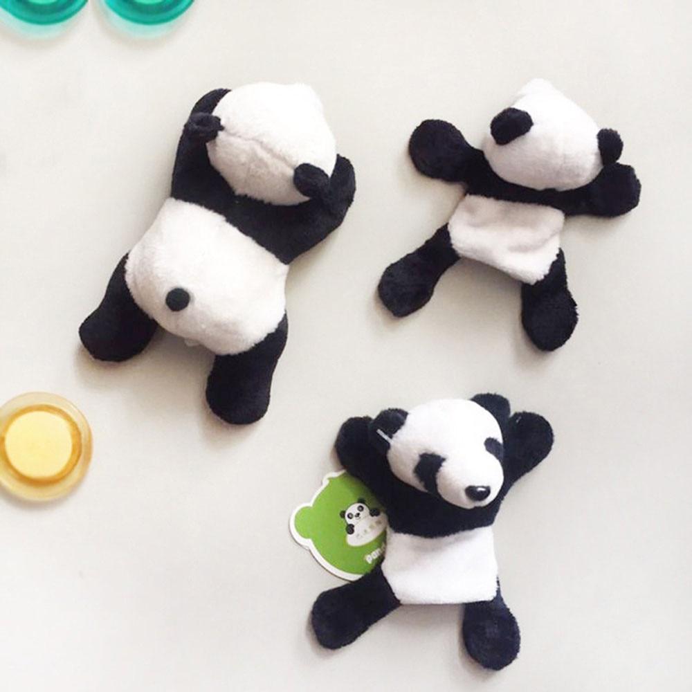 Cartoon Plush Panda Fridge Magnet Sticker Refrigerator Home Decoration Filmy