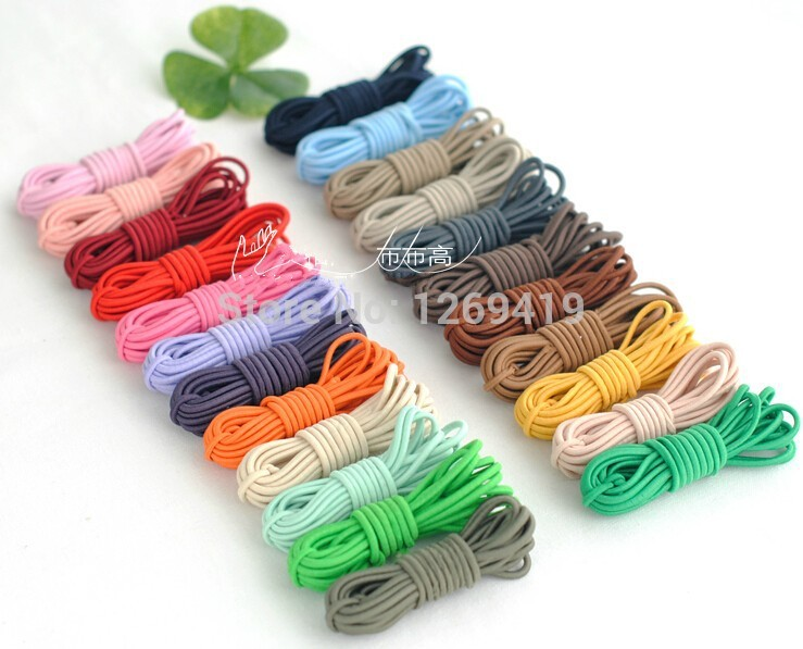 Wholesale 2 5mm 50yards Lot Elastic String Elastic Cord Rubber Band Diy Jewelry Making Elastic Bracelet Stretchable 23 Colors Cords Aliexpress
