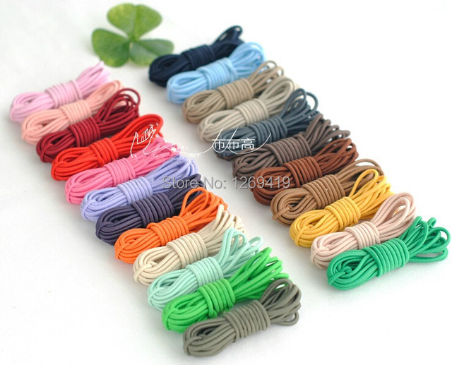 Whole 2 5mm 50yards Lot Elastic String Cord Rubber Band Diy Jewelry Making