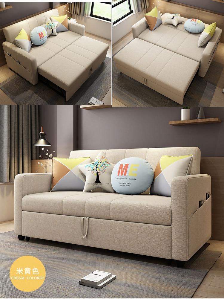 Linen Hemp Fabric Sectional Sofas  Living Room Sofa Set Furniture Alon Couch Puff Asiento Muebles De Sala Canape Sofa Bed Cama