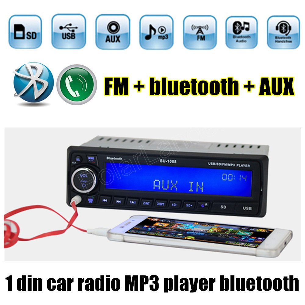 best selling Car Radio Stereo MP3 Player Bluetooth AUX-IN FM USB 1 Din remote control 12V Car Audio Auto  handsfree