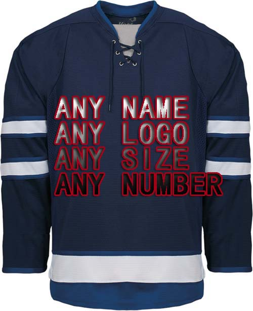 Custom Your ICE Hockey Jerseys Any logo/Name/Number White/BLUE Sewn On XXS-6XL Embroidery Jersey Wholesale China Free Shipping