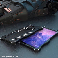 Original R Just For Nubia Z17 Z17S Mini Case Metal Aluminum Armor Batman Mobile Back Cover