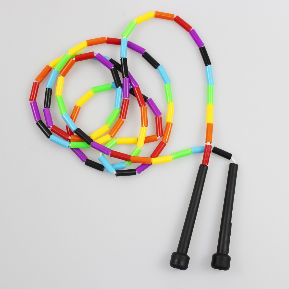 2PCS Speed <font><b>Skipping</b></font> <font><b>Rope</b></font> Plastic Beaded Segmented Strength Training Jump <font><b>Rope</b></font> Nonslip ABS <font><b>Handle</b></font> <font><b>Skipping</b></font> <font><b>Ropes</b></font> for MMA Training image