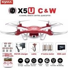 SYMA X5UW и X5UC FPV Радиоуправляемый Дрон с 720 P Wi-Fi 2MP HD Камера 2.4 г 4CH 6 оси Quadcopter Вертолет высота содержать один ключ земли Дрон
