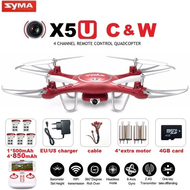 SYMA X5UW X5UC FPV font b RC b font font b Drone b font With 720P