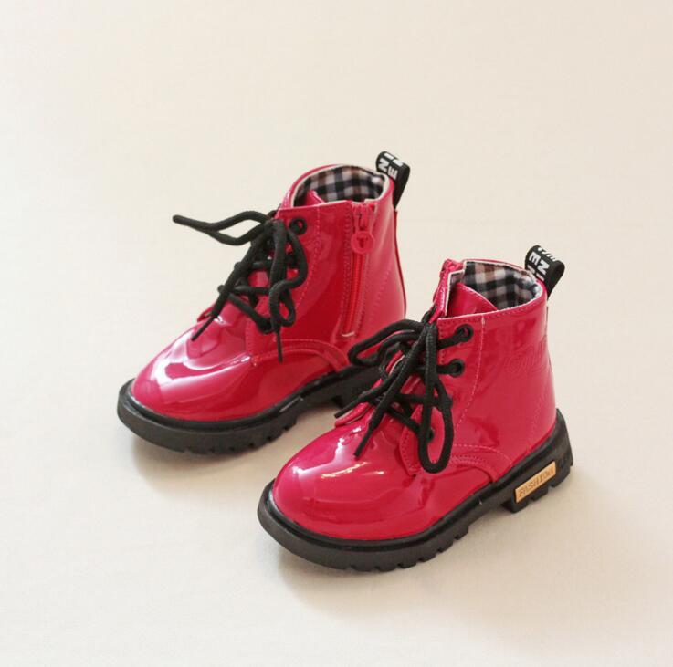 Buty skórzane Qloblo dla dzieci Buty męskie Martin dla kobiet - Obuwie dziecięce - Zdjęcie 6