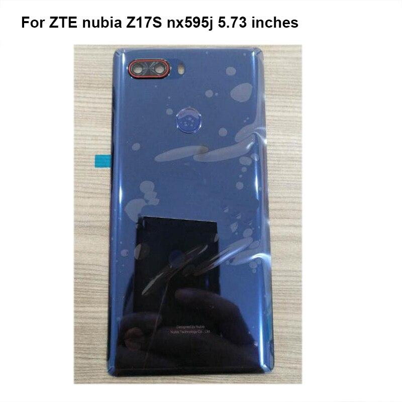 Retour Arrière En Verre Pour ZTE nubia Z17S Z 17 s NX595J NX 595J Batterie Porte Logement couverture arrière de cas pour nubia Z17 S nx595j