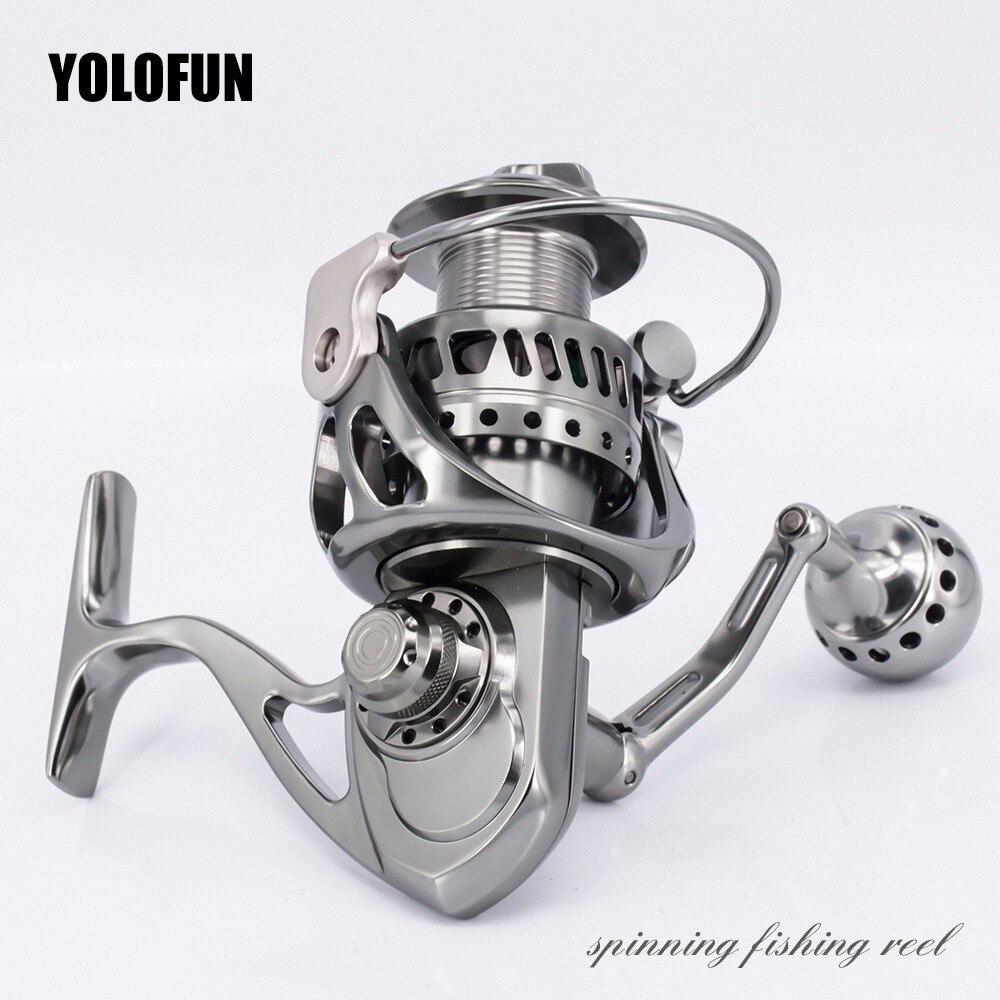 Full Metal 5.5: 1 Engrenagem 11 + 1BB Inoxidável fiação Carretilhas De Pesca de Água Salgada Pesca Da Carpa CNC Tecnologia Têxtil Freio de Carbono Pesca
