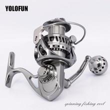 Full Metal 5.5:1 Spinning Fishing Reels Saltwater Stainless Gear 11+1BB Carp Fishing CNC Technology Carbon Textile Brake Pesca