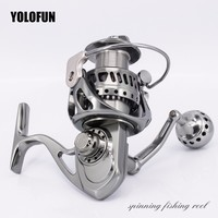 Full Metal 5.5:1 Spinning Fishing Reels Saltwater Stainless Gear 11+1BB Carp Fishing CNC Technology Carbon Textile Brake Pesca