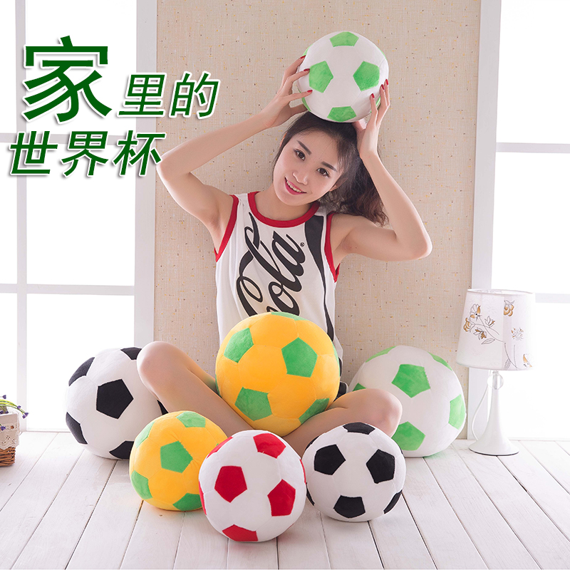 Sofa Soccer ball football anime plush toy creative cartoon pillow childlren lovely soft stuffed plush doll birthday gift peluche