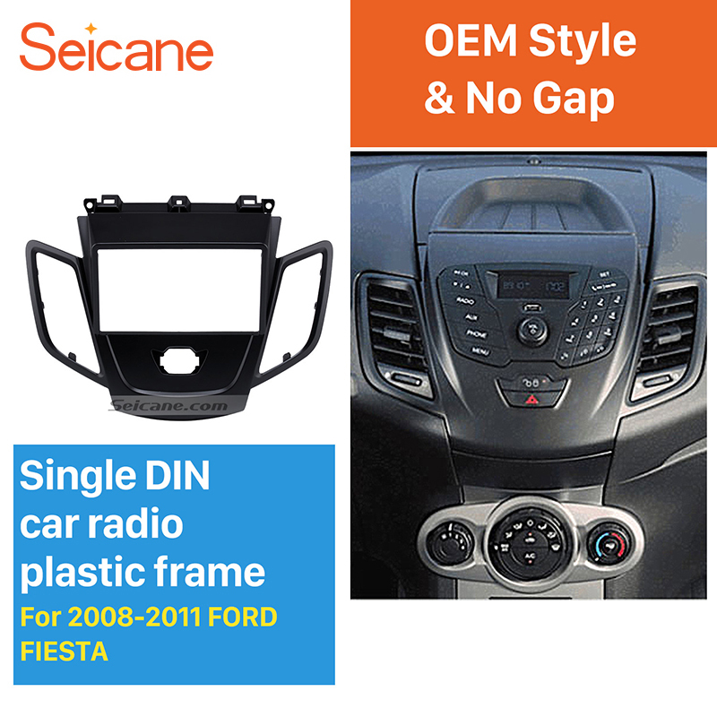 Seicane Black Double Din Car Radio Fascia for 2008-2011 Ford Fiesta Auto Stereo Installation Car Styling Panel Frame liislee 2 din plastic frame panel for alfa romeo giulietta 940 2010 2016 aftermarket radio stereo dvd gps navi installation