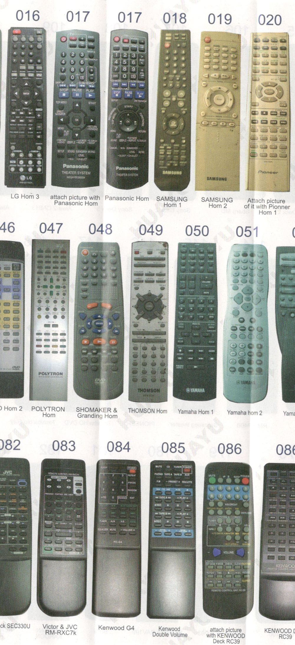 home theather remote control suitable for rm-adu101 rm-s343 sony lg  panasonic samsung pionner aiwa cemex dawoo harman kardon