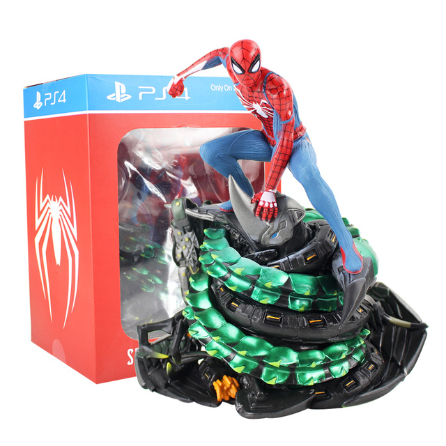 Colecionadores Edição Limitada PS4 Spider-Man Spiderman Marvel Action Figure PVC Estátua Collectible Toy Modelo