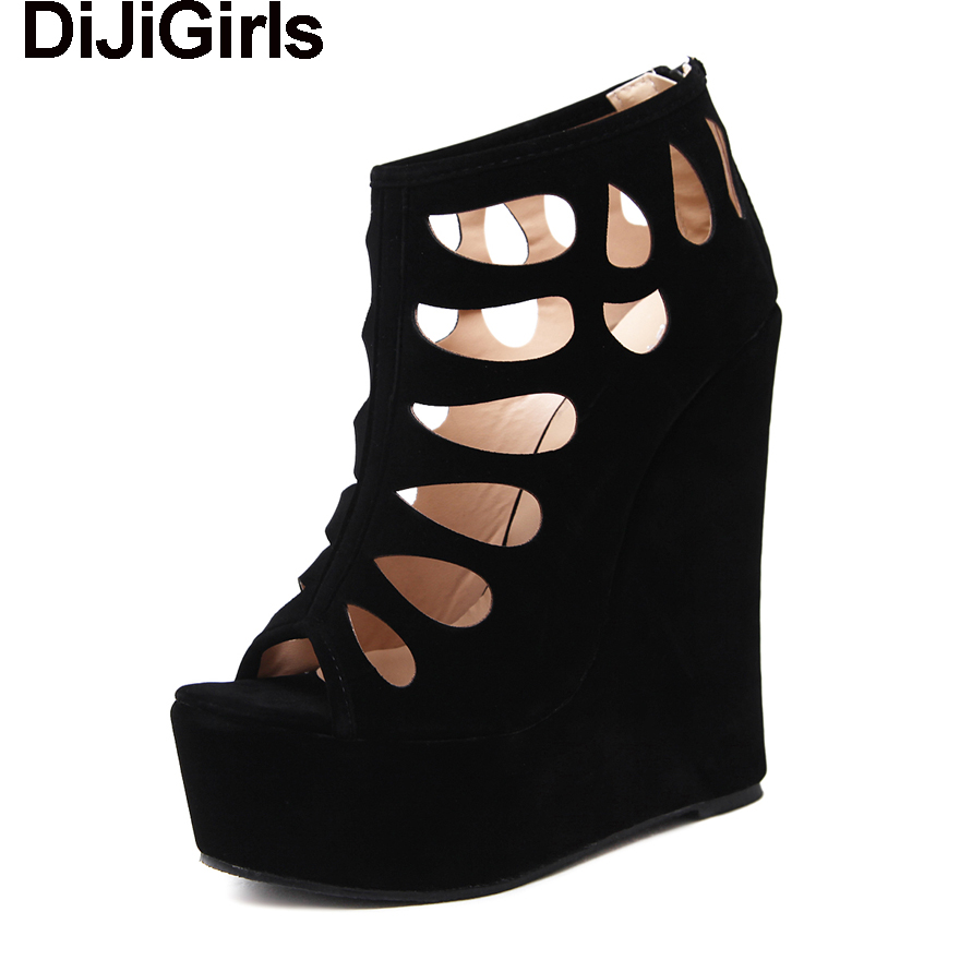 DiJiGirls Women Gladiator Wedge Sandals Platform Ultra High Heel Pumps Cut-outs Peep Toe Ankle Boots Bootie Thick Bottom Shoes michael burgan who was henry ford