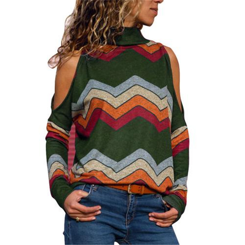 Trend 2018 Cute Europe And America Autumn Women Sweaters Turtleneck Off Shoulder Long Sleeve Pullovers Female New