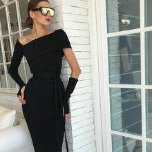 DressBird 2019 Women Dress Spring Long Sleeve Bandage Bodycon Vestidos Sexy Black Hollow Out Woman Party Clubwear