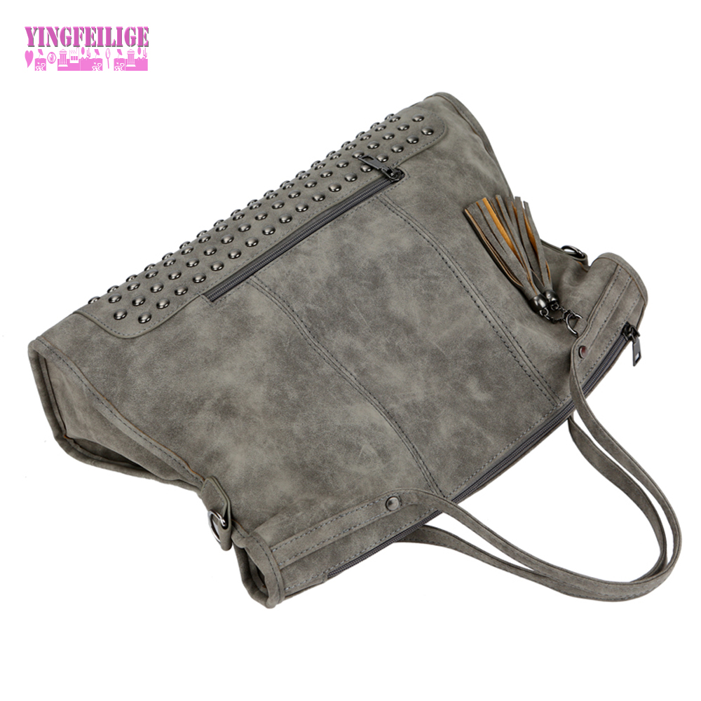 Casual Large Capacity With Tassel Women Crossbody Bag Handbag Fashion High Quality Ladies Shopping Bag Shoulder Messenger