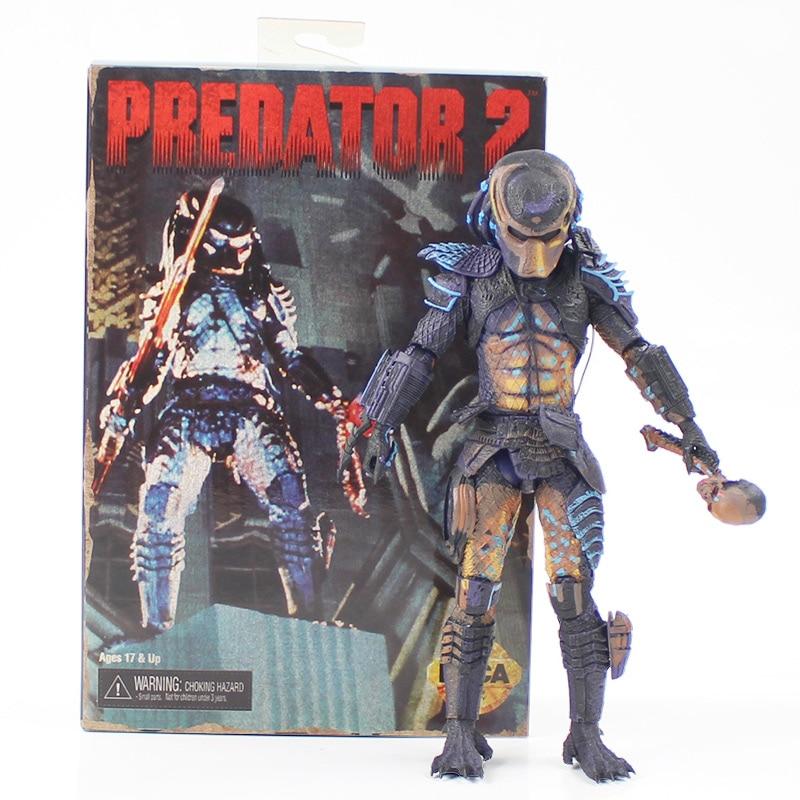 25*22cm Neca predator 2 cool action figure model toy for adult NECA Predator 2 цена