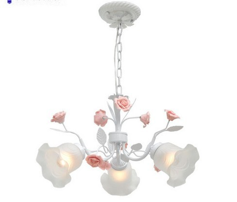 rustic flowers and plants Fashion brief ogilvy pendant light lamp iron lamp bedroom lamp ...