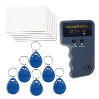 New Handheld RFID ID Card Copier Reader Writer 6 Writable Tags 6 Cards