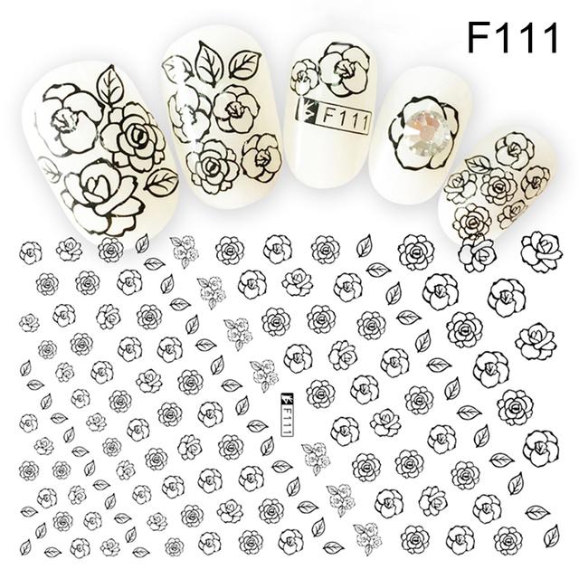 Cute 3D Mixed Print Nail Stickers