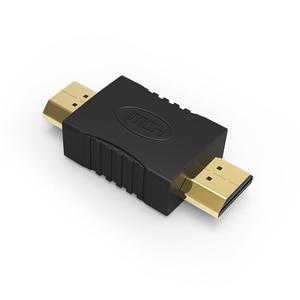 Image 4 - באיכות גבוהה HDMI ל hdmi זכר לזכר זהב מצופה מחברים מצמד EXtender מתאם ממיר עבור HDTV מחשב נייד מקרן