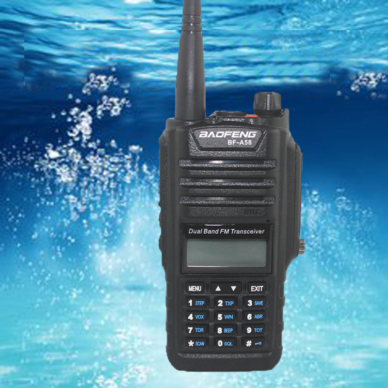 Waterproof walkie talkie pair Baofeng BF-A58 IP57 Waterproof Dustproof professional Two Way Radio sister baofeng uv-xr RadioWaterproof walkie talkie pair Baofeng BF-A58 IP57 Waterproof Dustproof professional Two Way Radio sister baofeng uv-xr Radio