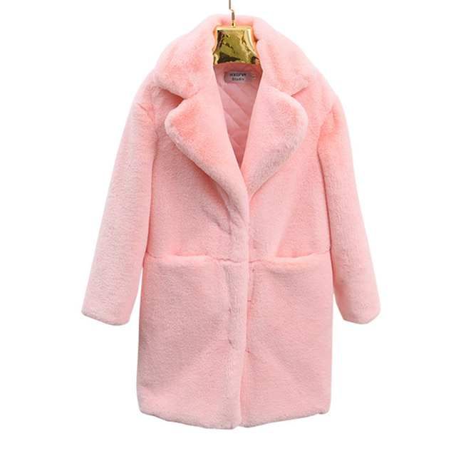 NEW Winter Faux Fur Coat Women 2019 Thick Warm Sheep shearing Coats Plus size Female Hairy Jackets Quilted cotton Fur Coats 2315