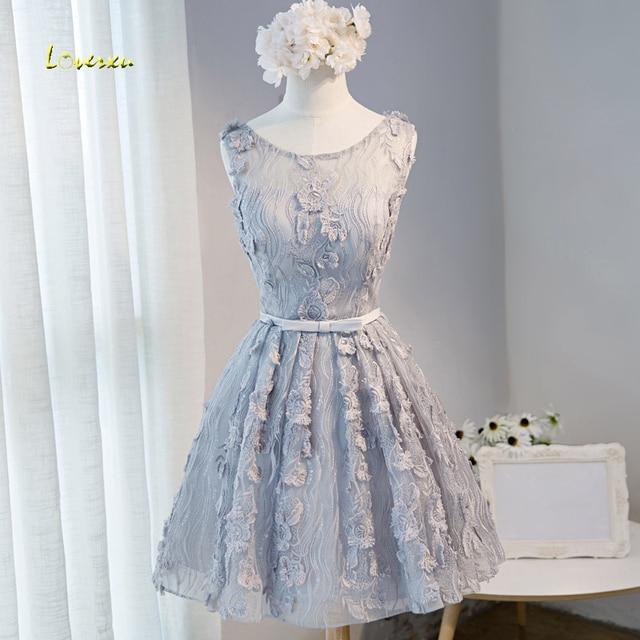 Loverxu Gorgeous Lace Appliques Short Homecoming Dresses 2019 Fashion Sashes Party Gown Vestido A-Line Graduation Dress Hot Sale