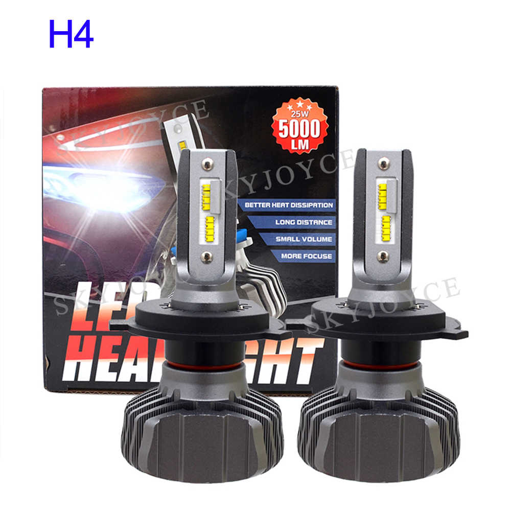 SKYJOYCE H4 LED Headlight Bulb H7 LED H1 H11 9005 HB3 9006 HB4 ZES Chips 50W 10000LM 6500K Car Light Auto LED Headlamp Bulbs 12V