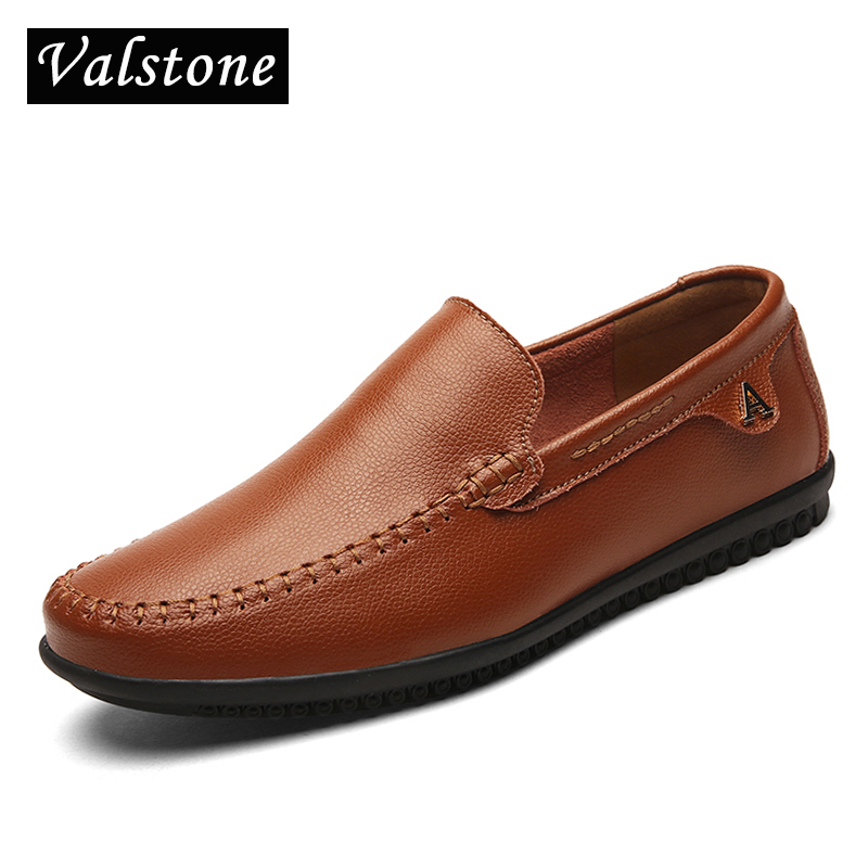 Valstone Genuine Leather casual shoes men Slip on loafers male italian leather shoes Top Quality Driving Moccasins large size 47 2017 brand best quality comfortable driving men shoes genuine leather casual male shoes soft loafers size 42 43 44
