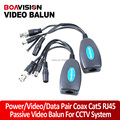 Twisted Pair Passive Power/Video/Data Balun Pair Coax BNC Balun Cat5 RJ45 PTZ